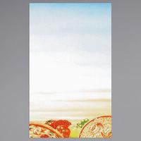 8 1/2 inch x 14 inch Menu Paper - Italian Themed Pasta Design Right Insert - 100/Pack