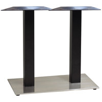 Grosfillex US281009 Indoor Contemporary 16 inch x 28 inch Double Pedestal Table Base