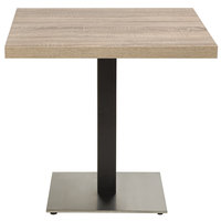 Grosfillex US221209 Indoor Contemporary 22 inch x 22 inch Square Pedestal Table Base