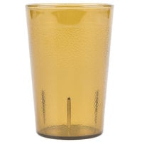 Carlisle 552613 Stackable 8 oz. Amber SAN Plastic Tumbler - 72/Case