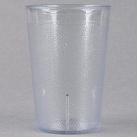 Carlisle 552607 8 oz. Clear SAN Plastic Stackable Tumbler - 72/Case