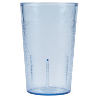Carlisle 550654 9.5 oz. Blue SAN Plastic Stackable Tumbler - 72/Case