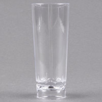 Fineline Tiny Temptations 6413-CL 2 oz. Tiny Barware Clear Cordial Plastic Shot Glass - 10/Pack