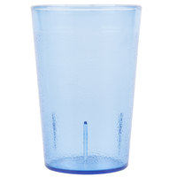 Carlisle 552654 8 oz. Blue SAN Plastic Stackable Tumbler - 72/Case