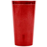 Carlisle 521610 16 oz. Ruby SAN Plastic Stackable Tumbler - 72/Case