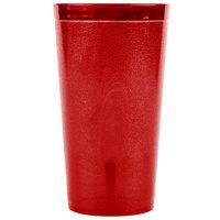 Carlisle 521610 Stackable 16 oz. Ruby SAN Plastic Tumbler - 72/Case