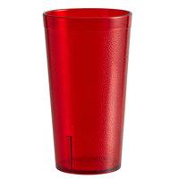 Carlisle 521610 16 oz. Ruby SAN Plastic Stackable Tumbler - 72/Case