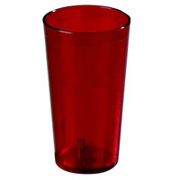Carlisle 521610 Stackable 16 oz. Ruby SAN Plastic Tumbler - 72 / Case