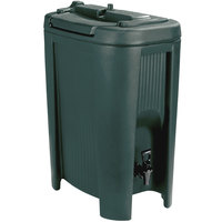 Carlisle XB508 Cateraide Slide N' Seal Forest Green 5 Gallon Insulated Beverage Dispenser