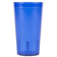Carlisle 521247 Stackable 12 oz. Royal Blue SAN Plastic Tumbler - 72/Case