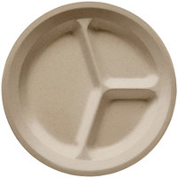 GET CP-532-S Sandstone 11 inch SuperMel Three Compartment Plate - 12/Case