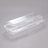 Dart C60UT1 StayLock 14 3/8 inch x 5 1/2 inch x 3 1/8 inch Clear Hinged Plastic 14 inch Strudel or Hoagie Container - 250/Case