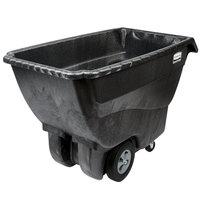 Rubbermaid FG101300BLA Black 0.75 Cubic Yard Tilt Truck / Trash Cart (1000 lb.)