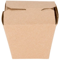 Fold-Pak Earth 08MWEARTHM 8 oz. Microwaveable Paper Take-Out Container - 50/Pack