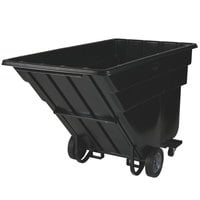 Rubbermaid FG102542BLA Black 1.5 Cubic Yard Forkliftable Tilt Truck (1200 lb.)