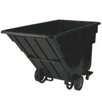 Rubbermaid FG102542BLA Black 1.5 Cubic Yard Forkliftable Tilt Truck / Trash Cart (1200 lb.)