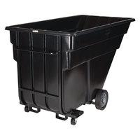 Rubbermaid FG102542BLA Black 1.5 Cubic Yard Forkliftable Tilt Truck (1200 lbs)