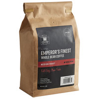 Crown Beverages 2 lb. Emperor's Finest Whole Bean Decaf Coffee - 5/Case