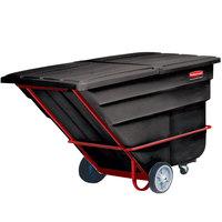 Rubbermaid FG104600BLA Black 2.5 Cubic Yard Tilt Truck / Trash Cart (2300 lb.)