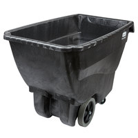 Rubbermaid FG101100BLA Black 0.75 Cubic Yard Tilt Truck / Trash Cart (600 lb.)
