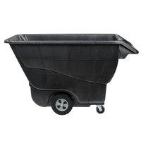 Rubbermaid FG9T1500BLA Black 1.0 Cubic Yard Tilt Truck (1250 lb.)
