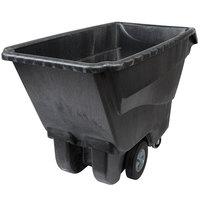 Rubbermaid FG9T1500BLA Black 1.0 Cubic Yard Tilt Truck / Trash Cart (1250 lb.)