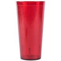 Carlisle 522410 24 oz. Ruby SAN Plastic Stackable Tumbler - 72/Case