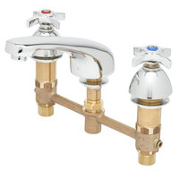 T&S B-2990-175F EasyInstall Deck Mount Concealed Lavatory Faucet with 8 inch Centers, 5 1/4 inch Cast Spout, 2.2 GPM Aerator, Eterna Cartridges, and 4-Arm Handles