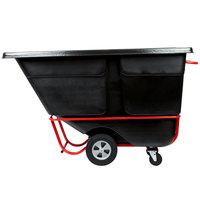 Rubbermaid FG131500BLA Black 1.0 Cubic Yard Tilt Truck (1250 lb.)