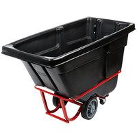 Rubbermaid FG130600BLA Black 0.5 Cubic Yard Tilt Truck / Trash Cart (1400 lb.)