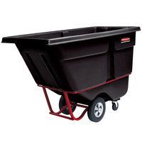 Rubbermaid FG130600BLA Black 0.5 Cubic Yard Tilt Truck (1400 lb.)