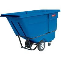 Rubbermaid FG130500DBLUE Dark Blue 0.5 Cubic Yard Tilt Truck / Trash Cart (850 lb.)