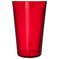 Carlisle 523210 32 oz. Ruby SAN Plastic Stackable Tumbler - 24/Case