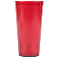 Carlisle 522010 20 oz. Ruby SAN Plastic Stackable Tumbler - 72 / Case
