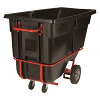 Rubbermaid FG131542BLA Black 1.0 Cubic Yard Forkliftable Tilt Truck / Trash Cart (1250 lb.)