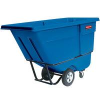 Rubbermaid FG131500DBLUE Dark Blue 1.0 Cubic Yard Tilt Truck (1250 lb.)