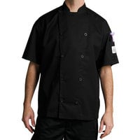 Chef Revival Gold Chef-Tex Size 64 (5X) Black Customizable Traditional Short Sleeve Chef Jacket