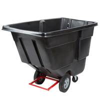 Rubbermaid FG131400BLA Black 1.0 Cubic Yard Tilt Truck / Trash Cart (850 lb.)