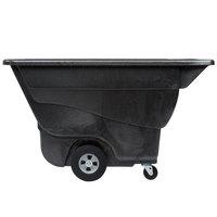 Rubbermaid FG9T1400BLA Black 0.5 Cubic Yard Tilt Truck (850 lb.)