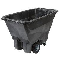 Rubbermaid FG9T1400BLA Black 0.5 Cubic Yard Tilt Truck / Trash Cart (850 lb.)