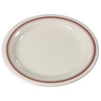 Carlisle 43005906 Mosaic Durus 9 inch Parisian on Bone Narrow Rim Melamine Plate - 24/Case