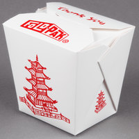 Fold-Pak 32MWPAGODM 32 oz. Pagoda Chinese / Asian Microwavable Paper Take-Out Container - 50 / Pack
