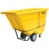 Rubbermaid FG130500YEL Yellow 0.5 Cubic Yard Tilt Truck (850 lb.)
