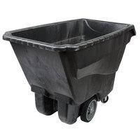 Rubbermaid FG9T1600BLA Black 1.0 Cubic Yard Tilt Truck / Trash Cart (2100 lb.)