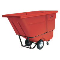 Rubbermaid FG131500RED Red 1.0 Cubic Yard Tilt Truck / Trash Cart (1250 lb.)