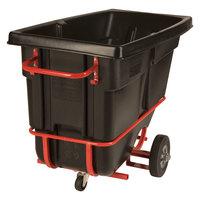 Rubbermaid FG130542BLA Black 0.5 Cubic Yard Forkliftable Tilt Truck / Trash Cart (850 lb.)