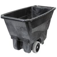 Rubbermaid FG9T1300BLA Black 0.5 Cubic Yard Tilt Truck / Trash Cart (450 lb.)