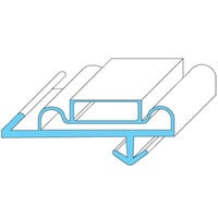 Anthony 02-10090-0001 Equivalent Magnetic Door Gasket - 21 3/4 inch x 64 inch