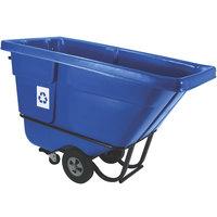 Rubbermaid FG130573BLUE Blue 0.5 Cubic Yard Recycling Tilt Truck / Trash Cart (850 lb.)