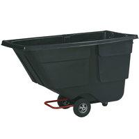 Rubbermaid FG9T1800BLA Black 1.0 Cubic Yard Tilt Truck / Trash Cart (600 lb.)
